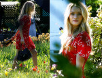 Rosie Huntington-Whiteley In Miu Miu - Magnum Ice Commercial Shoot