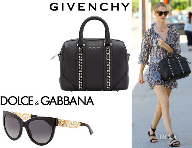 Rosie Huntington-Whiteley s Dolce   Gabbana  Filigree  Cat s-Eye Sunglasses  And Givenchy  Lucrezia  Duffel · « e80ca07a0a