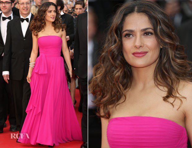 Salma Hayek In Saint Laurent -  'Saint Laurent' Cannes Film Festival Premiere