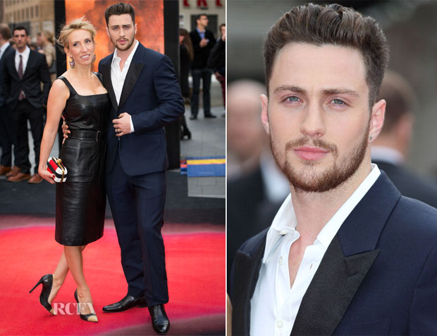 Sam Taylor Wood and Aaron Taylor Johnson In Alexander McQueen - 'Godzilla' London Premiere