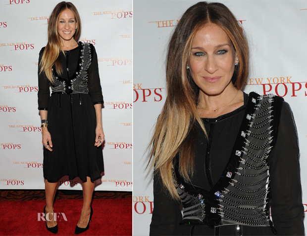 Sarah Jessica Parker In Sonia Rykiel & Giorgio Armani - The New York Pops 31st Birthday Gala