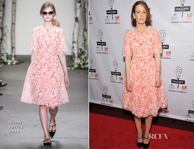 Sarah Paulson In Honor - 29th Annual Lucille Lortel Awards