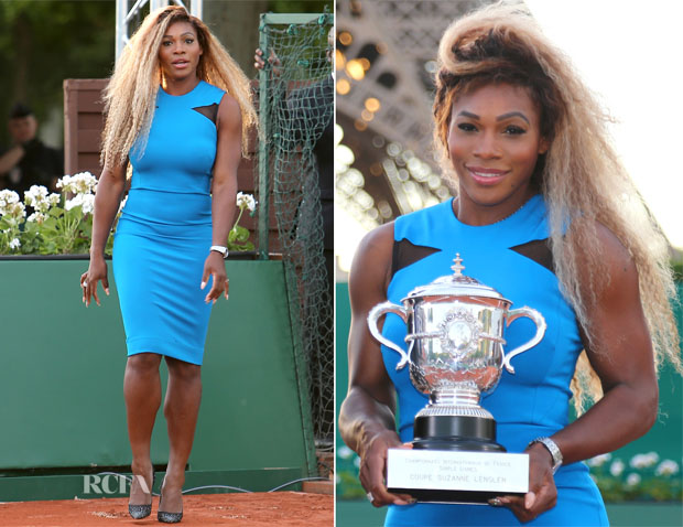 Serena Williams In Victoria Beckham - Rolland Garros 2014 (French Open) Promotion
