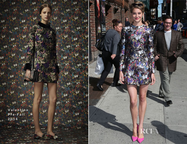 Shailene Woodley In Valentino - Late Show with David Letterman