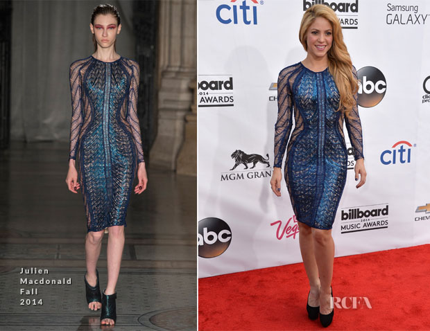 Shakira In Julien Macdonald - 2014 Billboard Music Awards