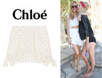 Sienna Miller's Chloé Embroidered Jacquard Shorts