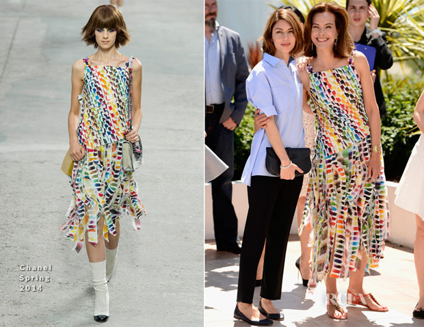 Sofia Coppola & Carole Bouquet In Chanel - Cannes Film Festival Jury Photocall