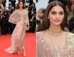 Sonam Kapoor In Anamika Khanna - 'Foxcatcher' Cannes Film Festival Premiere