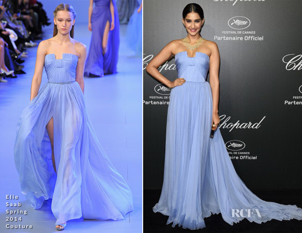 Sonam Kapoor In Elie Saab Couture - Chopard Dinner