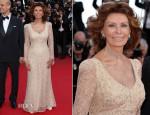 Sophia Loren In Giorgio Armani - 'Voce Umana' Cannes Film Festival Premiere