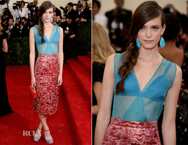 Stacy Martin In Miu MIiu - 2014 Met Gala