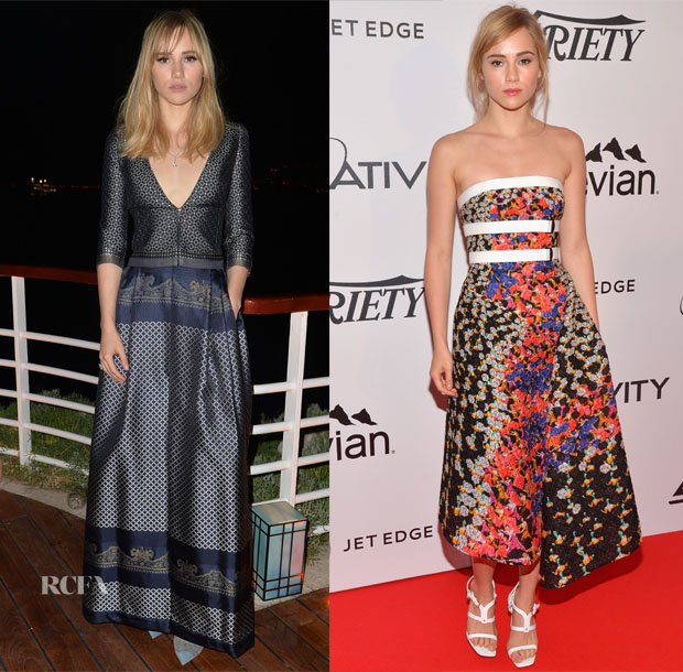 Suki Waterhouse In Armani Privé & Peter Pilotto - Cannes Film Festival Parties