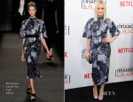 Taylor Schilling In Monique Lhuillier - 'Orange Is The New Black' Season Two Premiere