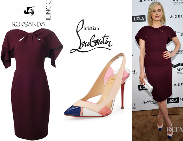 Taylor Schilling's Roksanda Ilincic 'Avery' Dress And Christian Louboutin 'Air Chance' Slingbacks