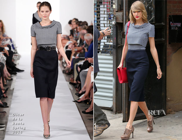 Taylor Swift In Oscar de la Renta - Out In New York City