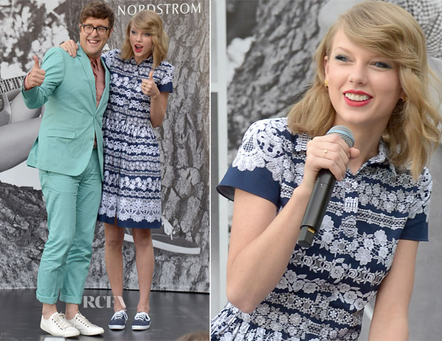 Taylor Swift In Oscar de la Renta - Taylor Swift For Keds Style Icons Event