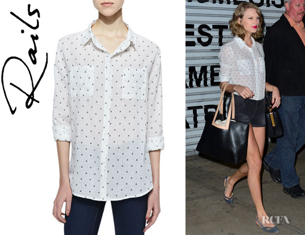 Taylor Swift's Rails 'Jesse Sailboat' Button-Down Blouse