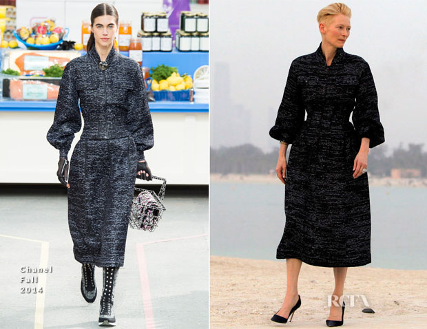 772521ce5829b1 Tilda Swinton In Chanel - Chanel Cruise 2015 - Red Carpet Fashion Awards