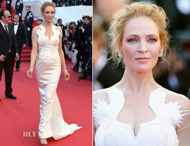 Uma Thurman In Marchesa -  'A Fistful of Dollars' Cannes Film Festival Screening & Closing Ceremony