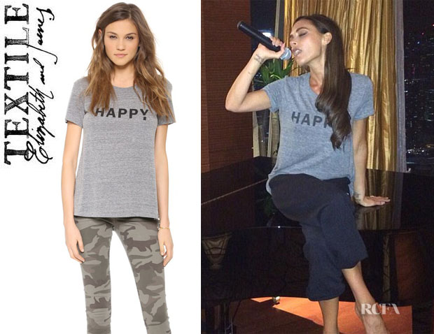 Victoria Beckham's TEXTILE Elizabeth and James 'Happy' Tee