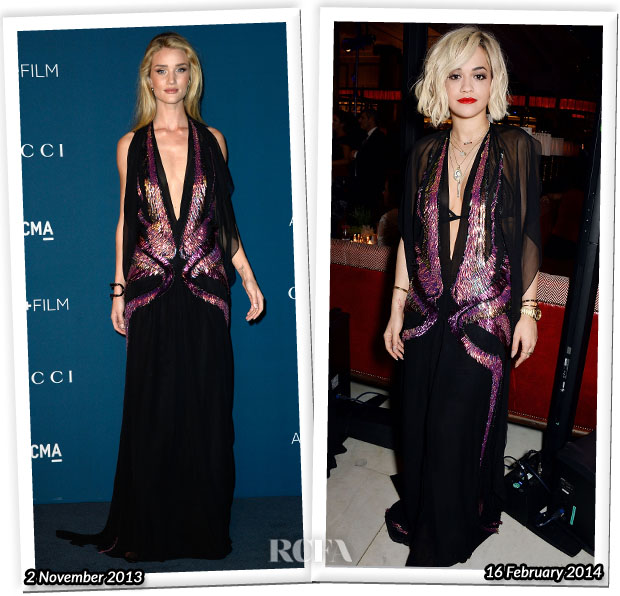 Who Wore Gucci Better Rosie Huntington-Whiteley or Rita Ora