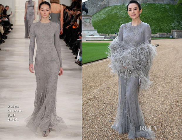 Zhang Ziyi In Ralph Lauren - The Royal Marsden Dinner