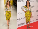 Zoe Saldana In Etro - Relativity At Ten Luncheon