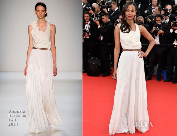 Zoe Saldana In Victoria Beckham - 'Grace of Monaco' Cannes Film Festival Premiere & Opening Ceremony2