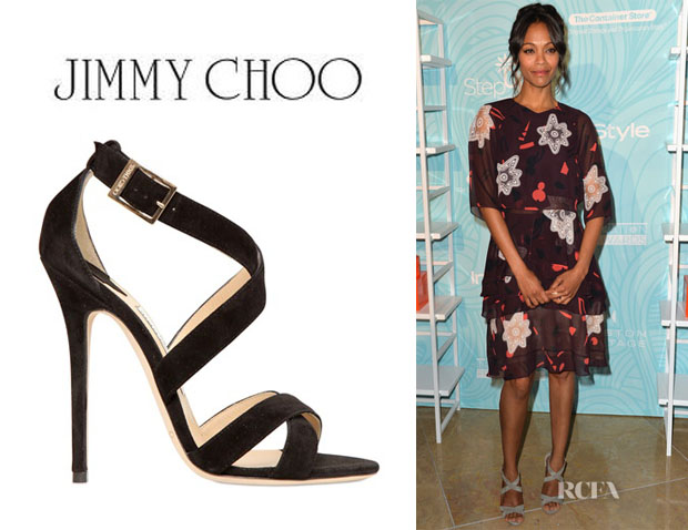 Zoe Saldana's Jimmy Choo Criss Cross Sandals