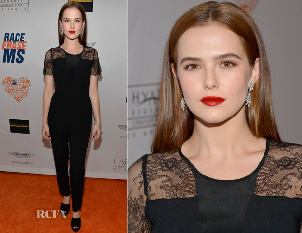 Zoey Deutch In Sandro - 21st Annual Race to Erase MS