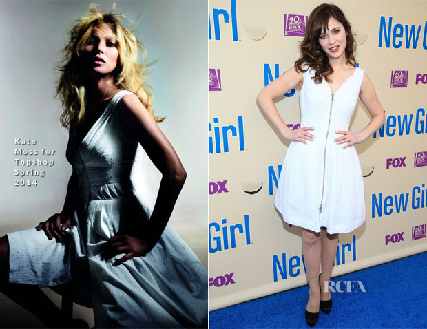 Zooey Deschanel In Kate Moss for Topshop - 'New Girl' Season 3 Screening