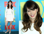 Zooey Deschanel In Vivienne Westwood Red Label - FOX 2014 Programming Presentation