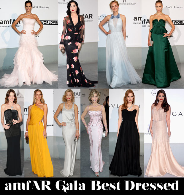 amfar gala best dressed