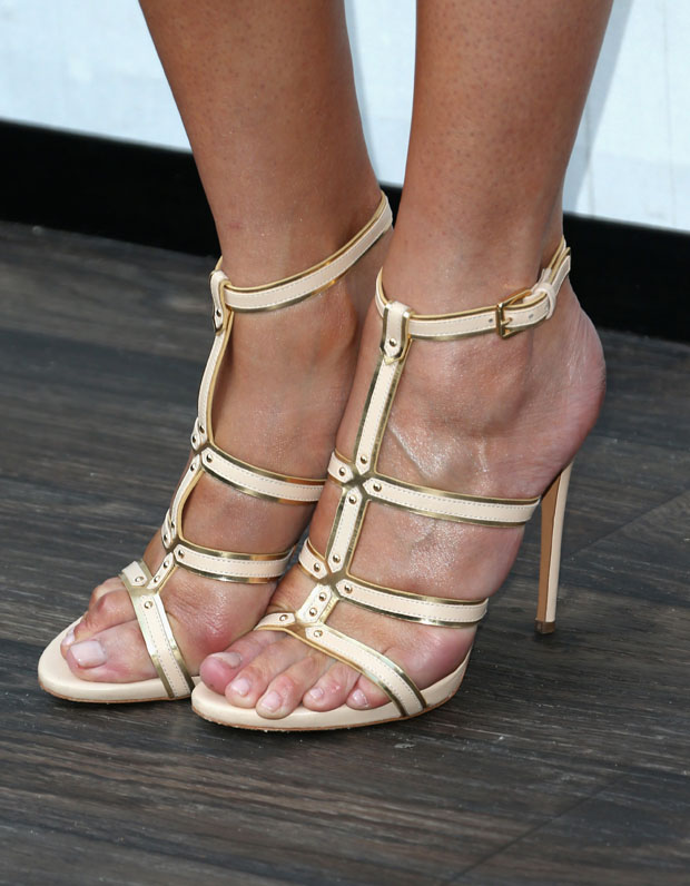 Chrissy Teigen's  Casadei Gladiator Stiletto Sandals