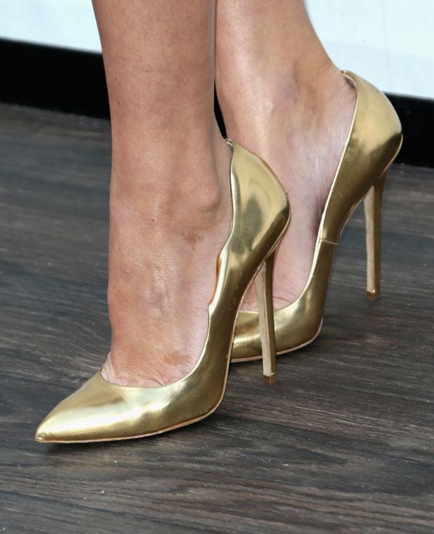 Olivia Munn's Brian Atwood pumps