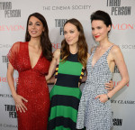Moran Atias in Naeem Khan, Olivia Wilde in Stella McCartney and Loan Chabanol