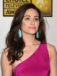 Emmy Rossum in Monique Lhuillier