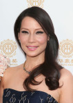 Lucy Liu in Carolina Herrera