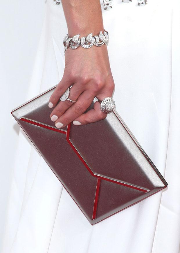 Jordana Brewster's Smythson clutch