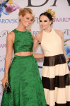 Beth Behrs in Alice + Olivia and Stacey Bennet in Alice + Olivia
