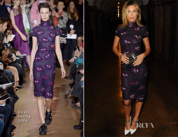 Abbey Clancy In Giles - London Collections Jimmy Choo Men Spring 2015 Show