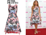 Alesha Dixon's Peter Pilotto Sequined Crescent Dress