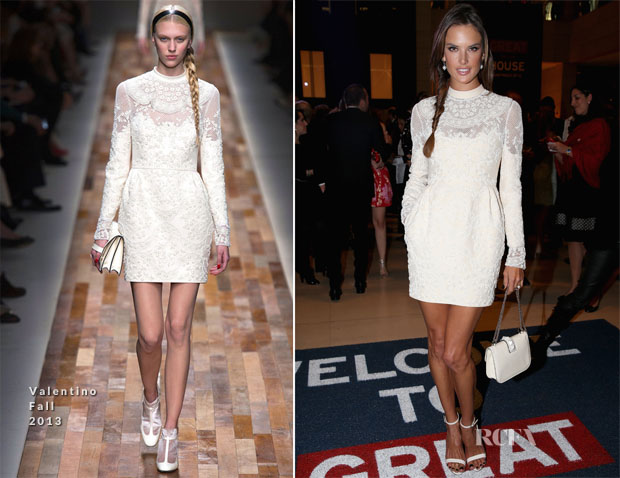Alessandra Ambrosio In Valentino - GREAT Britain Reception