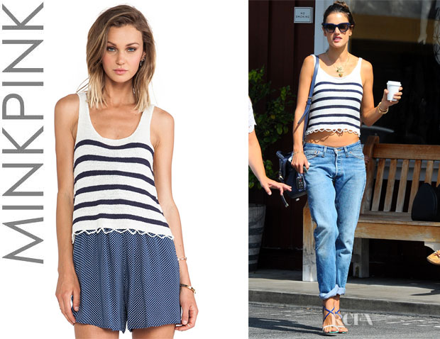 Alessandra Ambrosio's MinkPink 'Next In Line' Knitted Tank