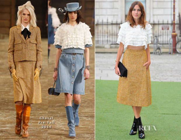 Alexa Chung In Chanel - Royal Academy Summer Exhibition Preview Party