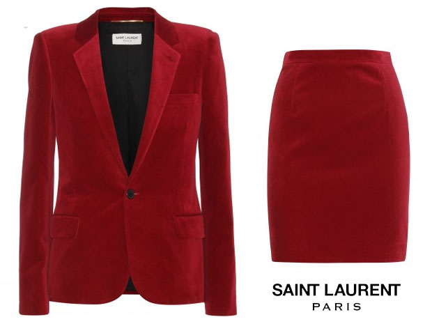Alexa Chung Saint Laurent Red Suit