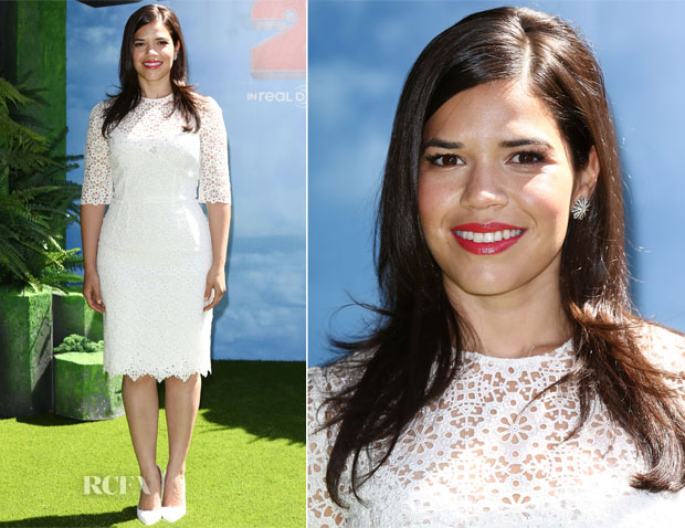 America Ferrera In Dolce & Gabbana - 'How To Train Your Dragon 2' London Gala Screening