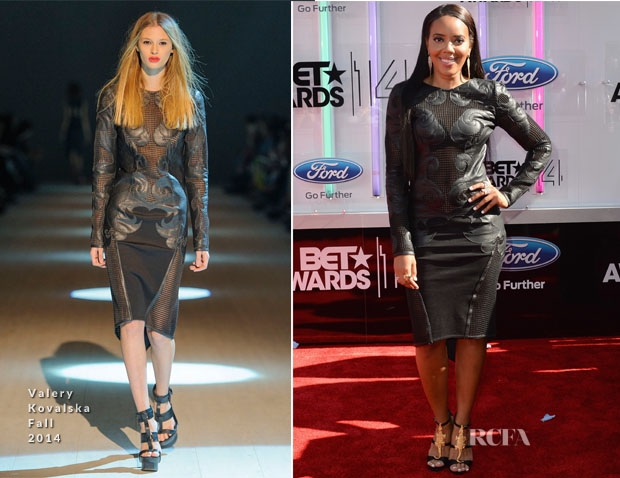 Angela Simmons In Valery Kovalska - 2014 BET Awards
