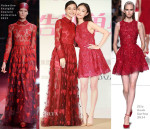 Angelababy In Valentino Couture & Ni Ni In Elie Saab - 'Bride Wars' Press Conference