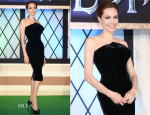 Angelina Jolie  In Atelier Versace - 'Maleficent' Japan Premiere